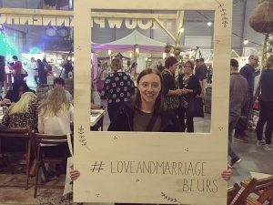 Ankie op de Love & Marriage beurs