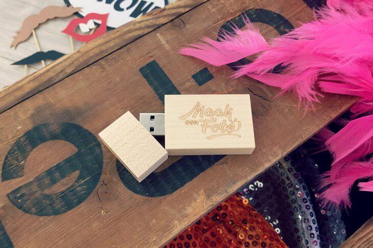 Luxe USB stick met fotoprops