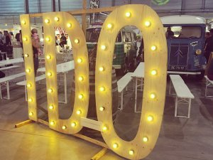 Trouwen: Lichtletters I Do