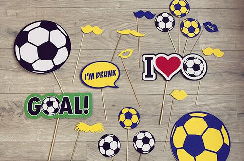 Fotoprops voetbal feest