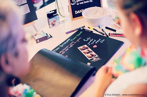 Fotostrips in het gastenboek