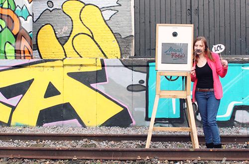 photobooth bij het spoor