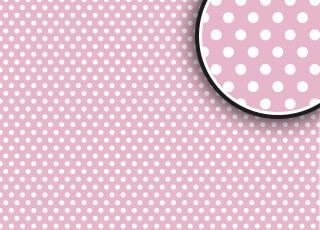 Roze met witte stippen - € 95