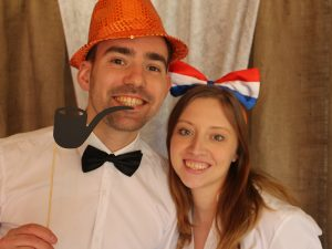 Bart en Ankie foto voor Koningsdag