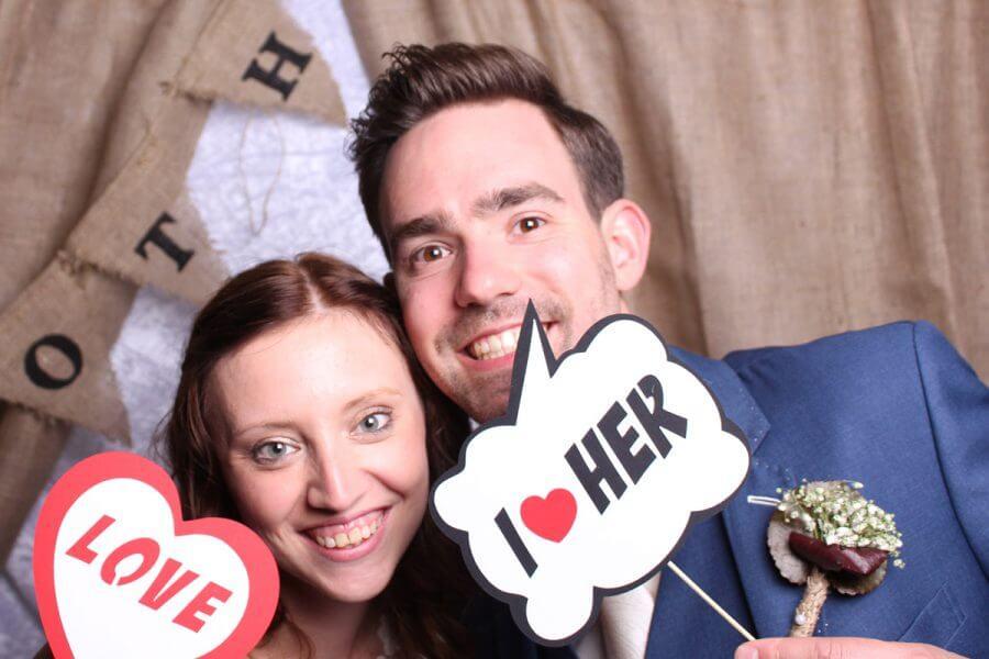 Bart en Ankie bij de photobooth