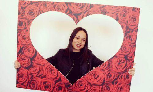 Valentijn - Kisscam - rozen