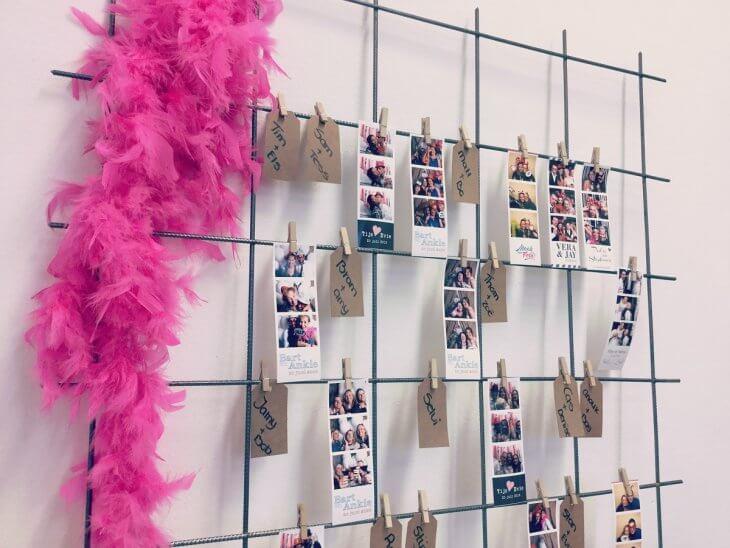 Fotostrips en naamkaartjes