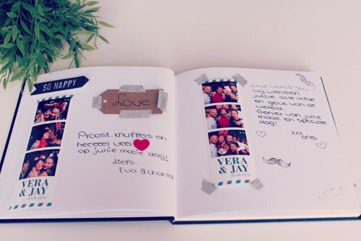 Gastenboek met fotostrips