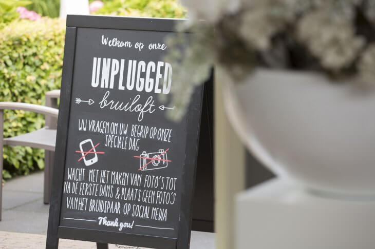 Unplugged wedding - krijtbord