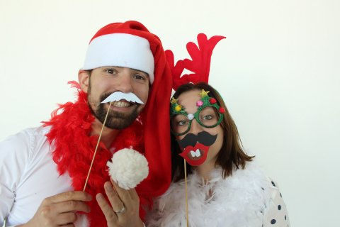 Kerstmis entertainment met photobooth