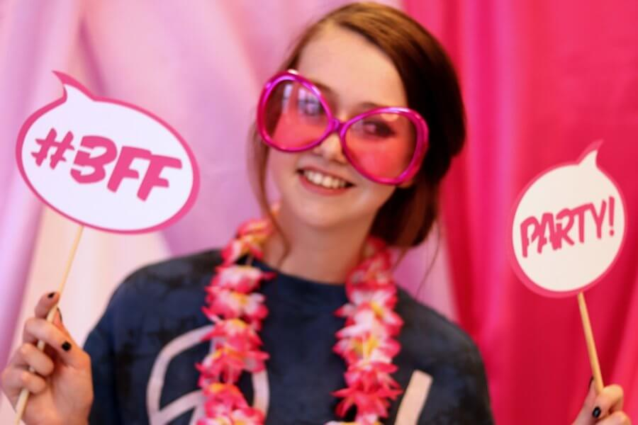 Fotoprops roze party #BFF