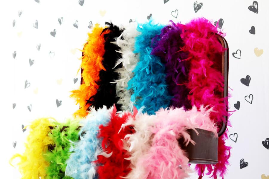 Photobooth Boa's in allerlei kleuren